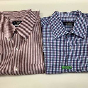 Bundle of 2 Club Room Men's Button Up Long Sleeve